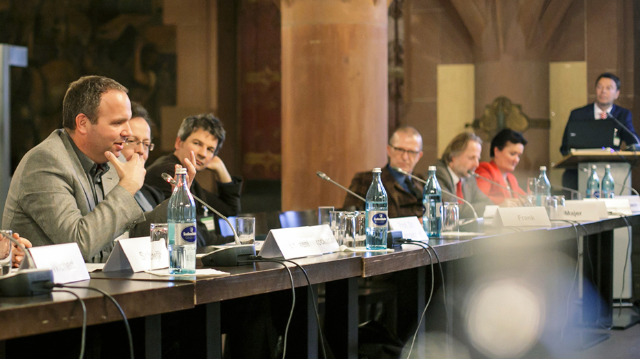 Diskussion Nachhaltigkeitsforum © Stadt Frankfurt am Main, Foto: Daniel Banner