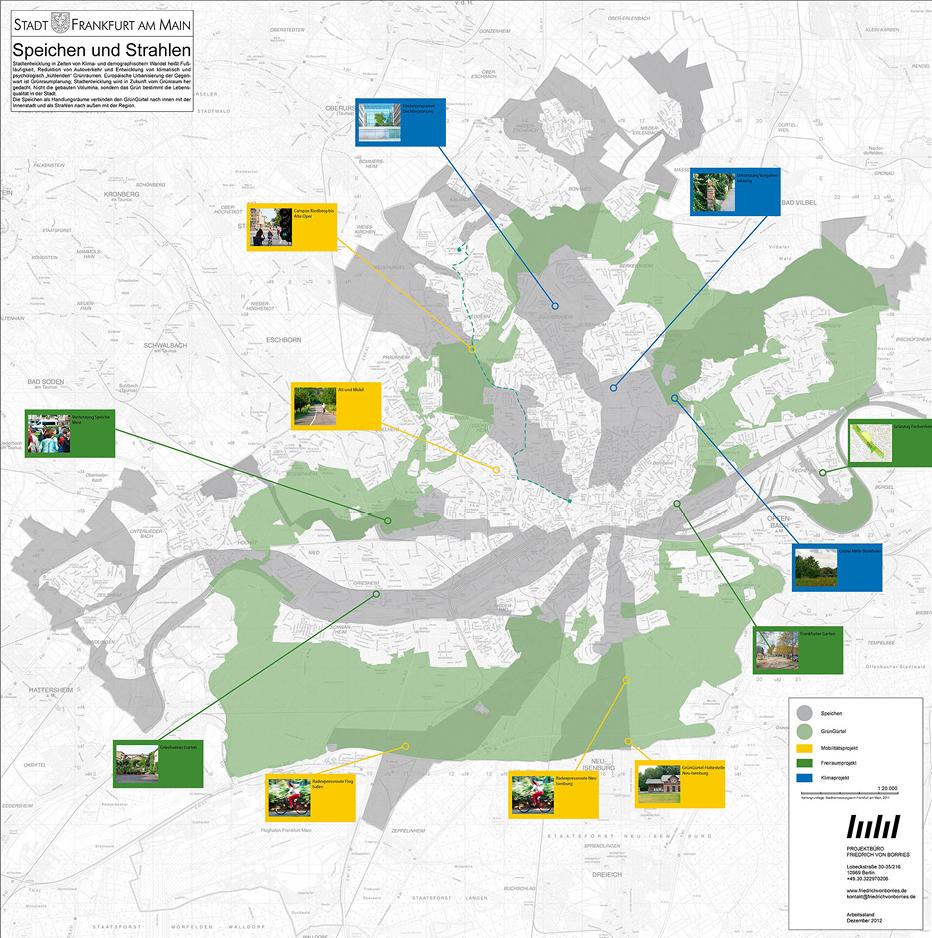 Plan: © Projektbüro Friedrich von Borries, Stand 2013; Geobasisdaten: © Stadtvermessungsamt Frankfurt am Main, 2011