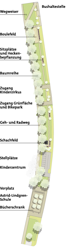 Lageplan der Platenstrasse, © Grünflächenamt