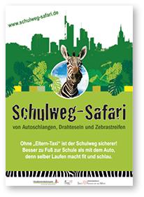 Plakat Schulweg-Safari