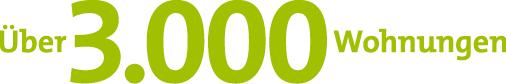 Über 3.000 Wohnungen